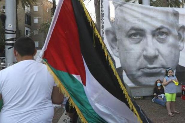 Conflit israélo-palestinien - Manifestation à Tel-Aviv contre le projet d'annexion de Cisjordanie