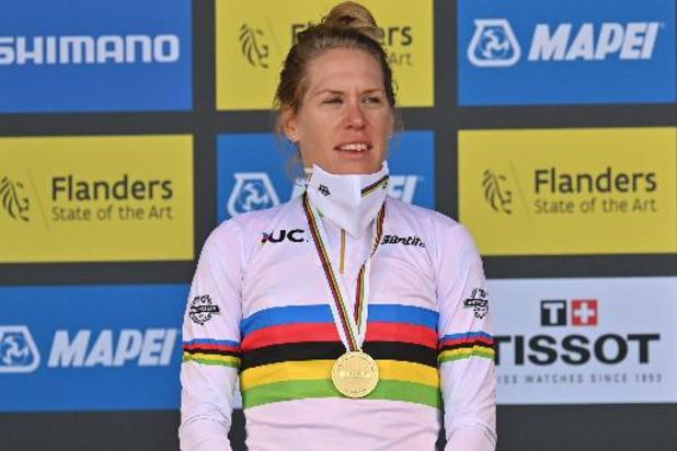 """Ellen van Dijk après son 2e titre mondial sur le chrono: """"Un rêve qui devient réalité"""""""