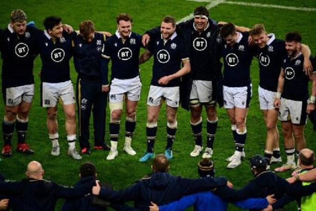 Six Nations - Rugbyers Wales winnen Six Nations met dank aan Schotten