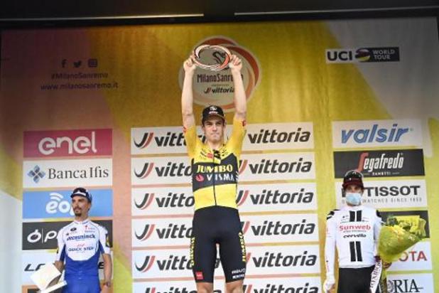 Milan-Sanremo - Wout van Aert sans voix après la victoire de son premier Monument