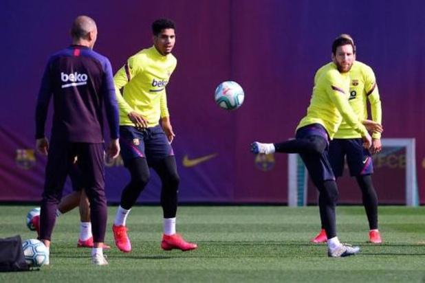 Le FC Barcelone a repris les entraînements avec Lionel Messi