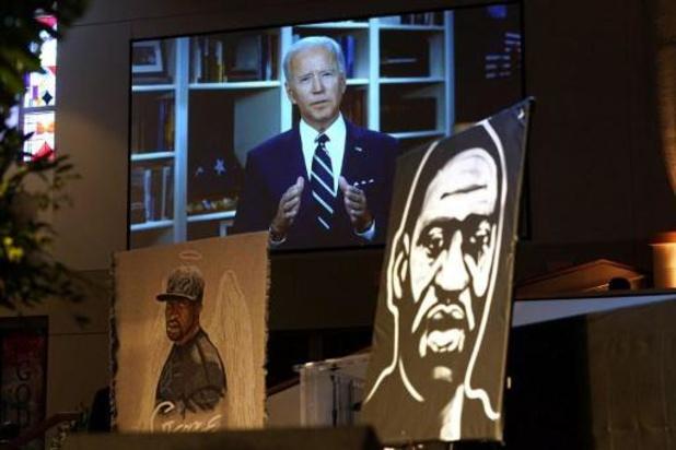 Biden met emotionele videobooschap op begrafenis George Floyd