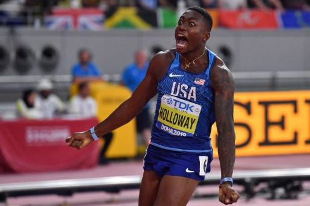 WK atletiek - Amerikaan Holloway steekt goud op zak op 110m horden