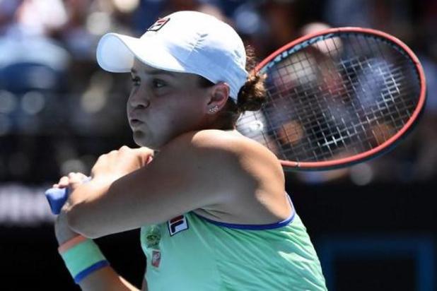 Barty, la 'Justine Henin' australienne, pour la première fois en demi-finales de l'Open d'Australie