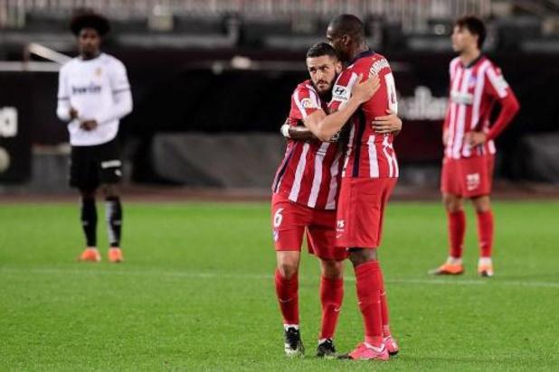 Les Belges à l'étranger - Carrasco et l'Atlético Madrid continuent sur leur lancée en gagnant à Valence