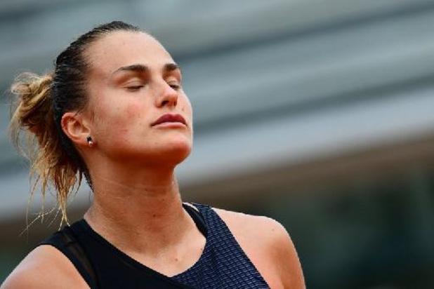 La N.4 mondiale Aryna Sabalenka éliminée au 3e tour de Roland-Garros