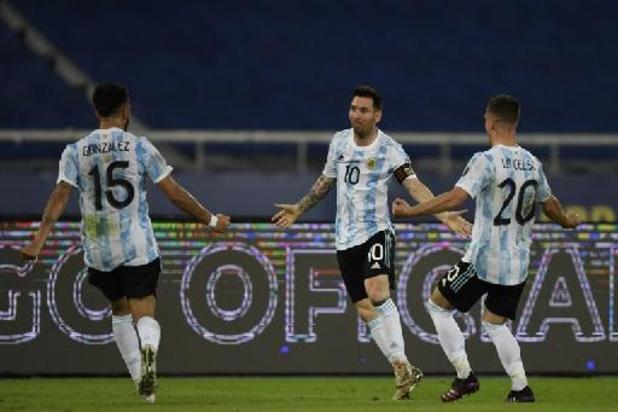 Argentinië blijft op gelijkspel steken tegen Chili