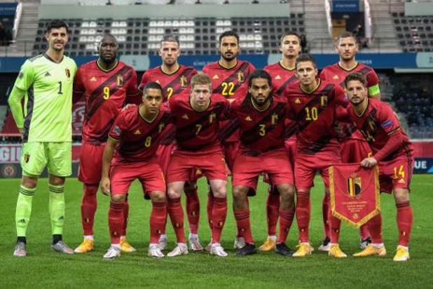 La Belgique toujours en numéro 1 au classement mondial de la FIFA jeudi
