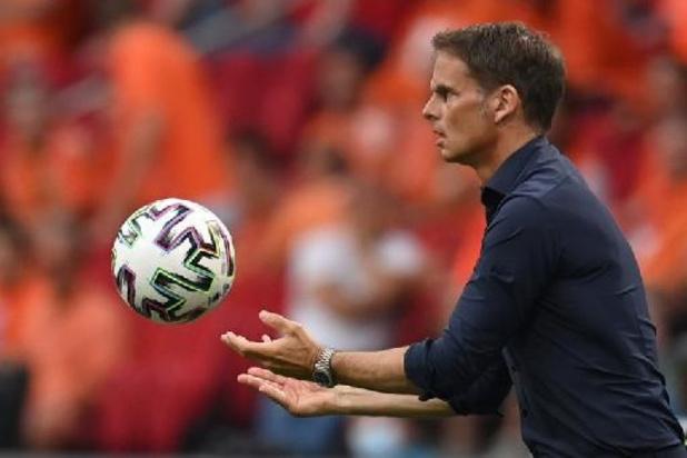 Euro 2020 - Frank de Boer satisfait du peu d'occasions offertes à l'Autriche