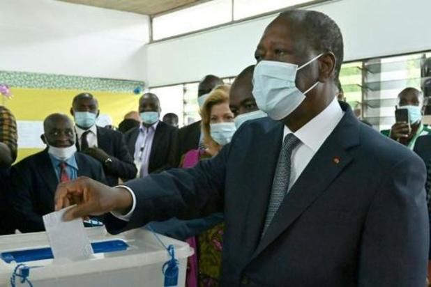 Presidentsverkiezingen Ivoorkust - President Ouattara herverkozen voor derde mandaat
