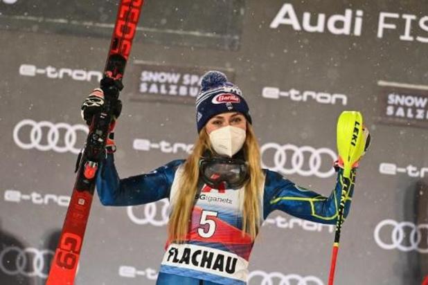 WB alpijnse ski - Mikaela Shiffrin wint slalom Flachau