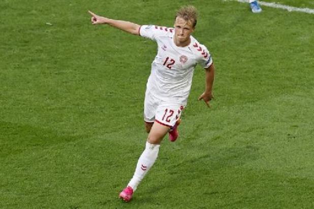 Euro 2020 - Kasper Dolberg, auteur d'un doublé, élu Homme du match pays de Galles-Danemark