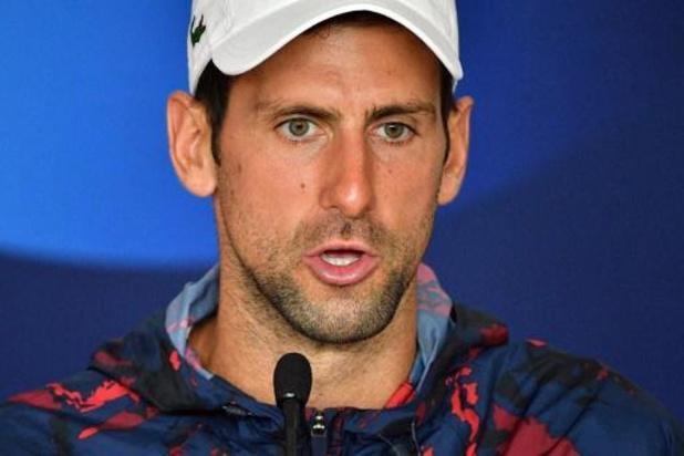 """""""Hele situatie heeft me erg verdrietig gemaakt"""", zegt Djokovic na diskwalificatie"""