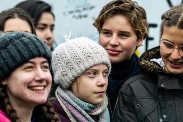 Klimaatjongeren maken zich op voor mars met Greta Thunberg