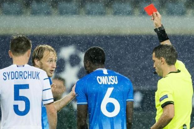 Champions League - Tien Gentenaars gaan in eigen huis kansloos onderuit tegen Dinamo Kiev