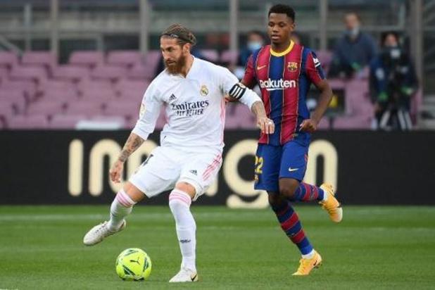 Les Belges à l'étranger - Le Real Madrid, avec Thibaut Courtois, remporte le Clasico et enfonce Barcelone