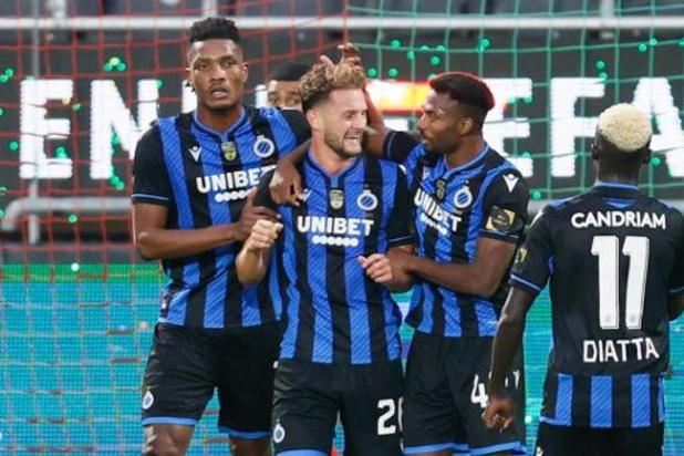Club Brugge komt naast leider Charleroi na 1-3 zege in derby bij KV Oostende