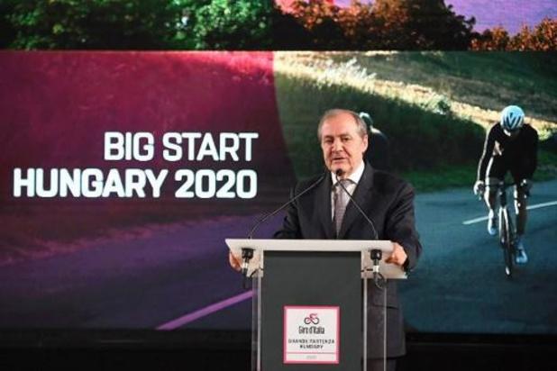 Le gouvernement hongrois annonce l'annulation du départ du Tour d'Italie à Budapest