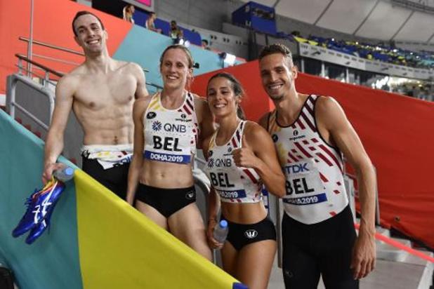 Mondiaux d'athlétisme - Le relais mixte se fait peur, rejoint la finale, les JO et bat le record de Belgique