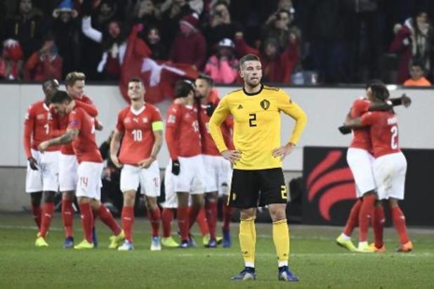 Zwitserland zakt op volle sterkte af naar België