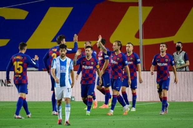 La Liga - FC Barcelona stuurt stadsgenoot Espanyol naar Segunda Division