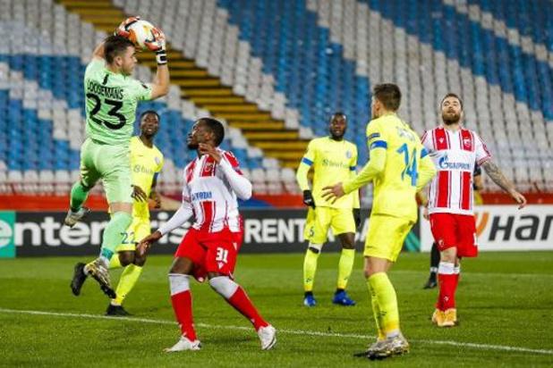 Europa League - AA Gent blijft met nul punten achter na verlies in Belgrado