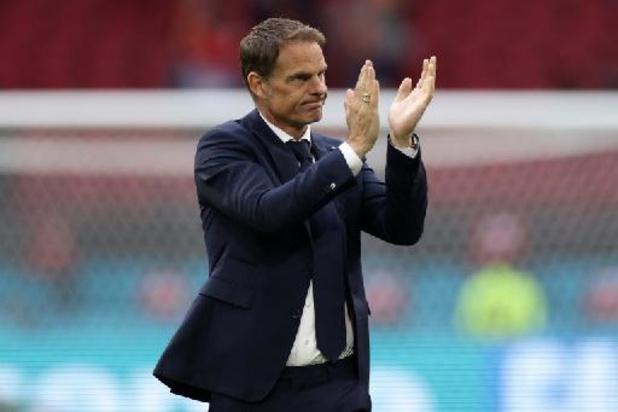"""Euro 2020 - Frank de Boer satisfait de la """"progression"""" de son équipe"""