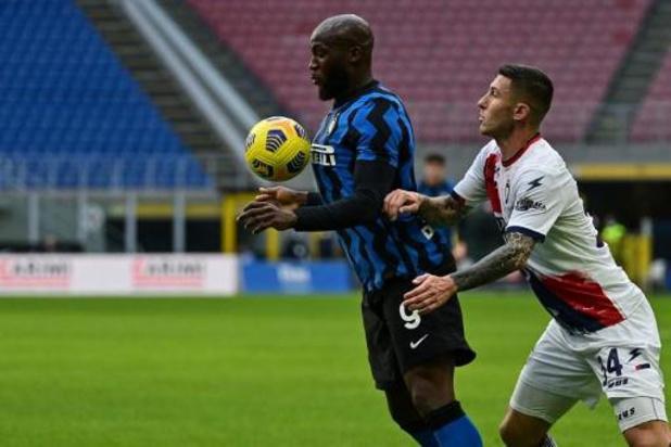 Deuxième défaite de la saison pour l'Inter de Lukaku, monté au jeu en 2e mi-temps