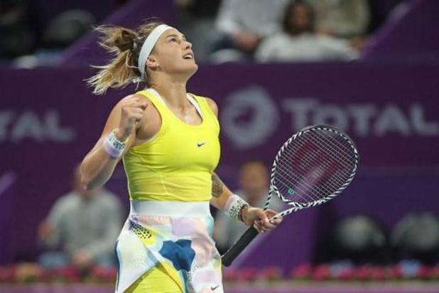 Sabalenka en Kvitova finalistes WTA-toernooi Doha