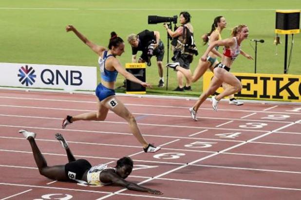 """Mondiaux d'athlétisme - Le parcours d'Anne Zagré à Doha s'achève par une chute en demie: """"Dommage, j'étais bien"""""""
