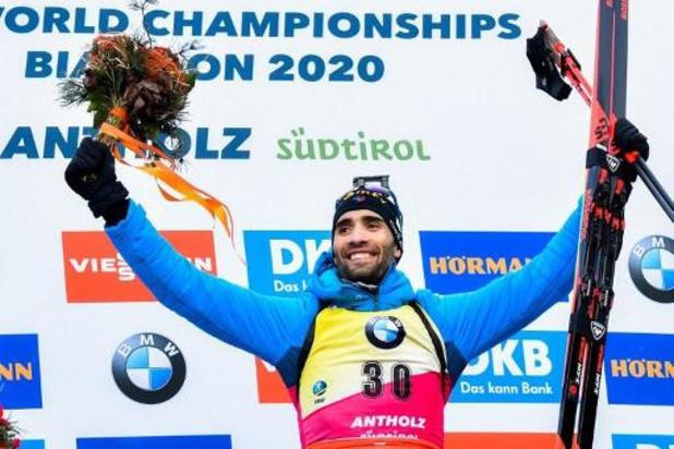 Championnats du monde de biathlon: titré, le Français Fourcade égale le record de Bjoerndalen, Florent Claude 25e