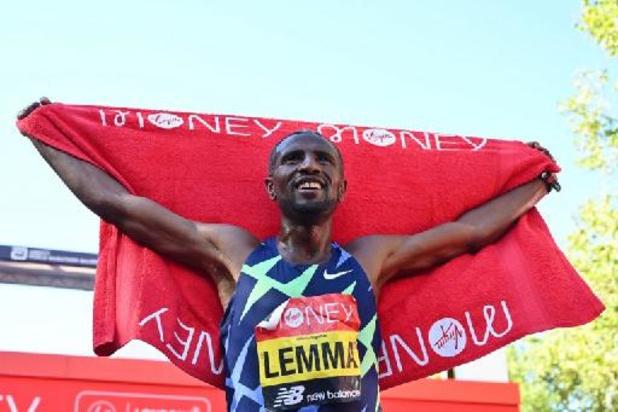 Ethiopiër Lemma en Keniaanse Jepkosgei winnen marathon van Londen