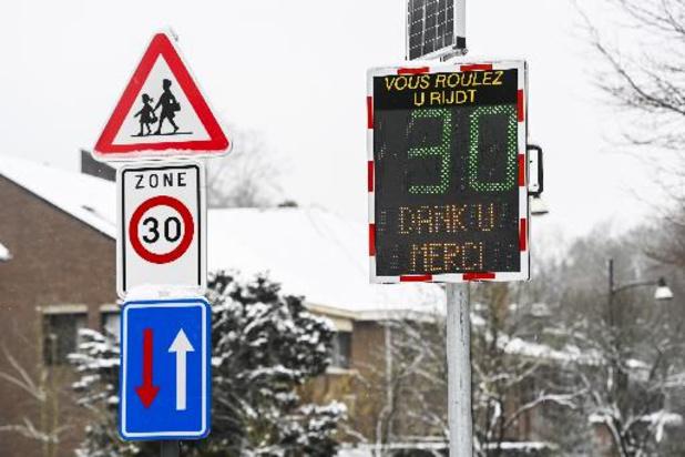 Lagere snelheid en minder ernstige ongevallen sinds algemene zone 30 in Brussel