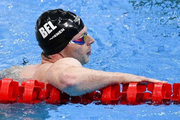Geen halve finales voor Louis Croenen in 100m vlinderslag