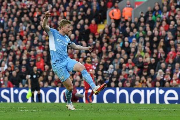 Les Belges à l'étranger - Kevin De Bruyne arrache un point pour City à Liverpool