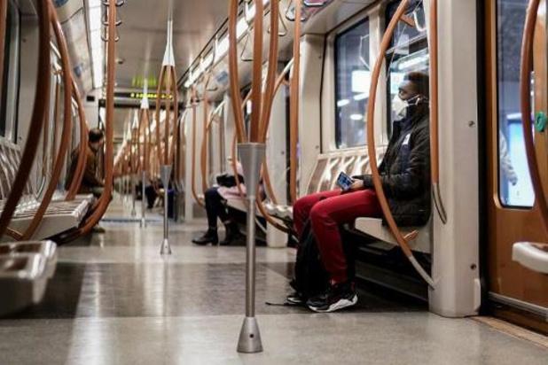 Dragen van mondmasker wordt goed nageleefd op Brusselse openbaar vervoer