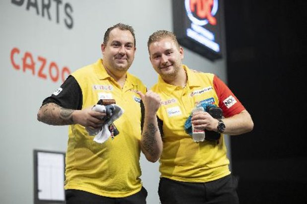 WB darts - Geen kwartfinale voor de Belgen in World Cup of Darts