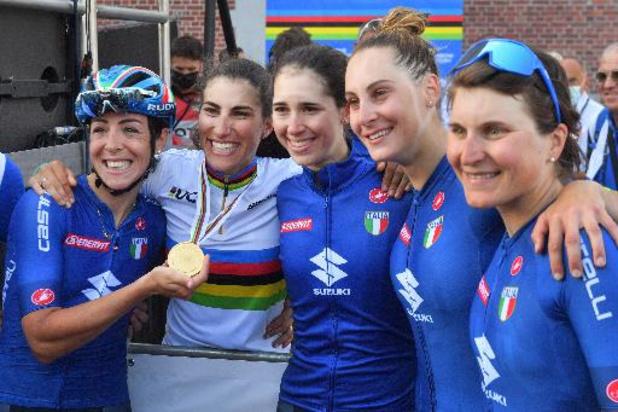 """Elisa Balsamo titrée au sprint: """"J'ai pensé à y aller à fond sans me retourner"""""""