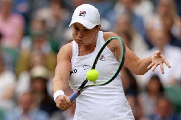 Ashleigh Barty is de eerste finaliste Wimbledon