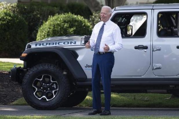Biden veut que la moitié des voitures vendues aux USA d'ici 2030 soient sans émissions
