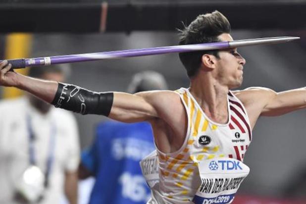 Mondiaux d'athlétisme - Thomas Van der Plaetsen remonte à la 5e place après le groupe A du javelot
