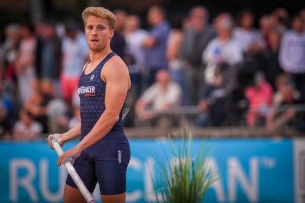 Ben Broeders bat son record de Belgique de la perche à 5m80 et se qualifie pour les JO