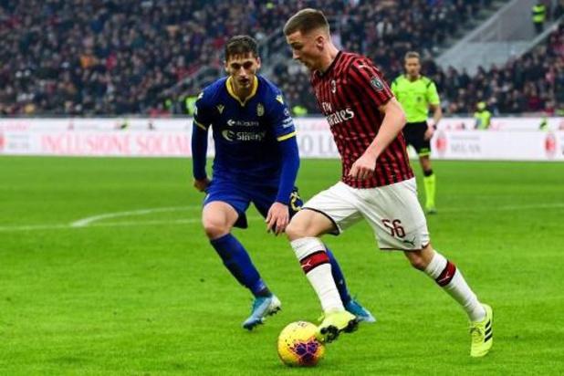 Les Belges à l'étranger - La Juventus mène 0-2 avant d'être balayée 4-2 à l'AC Milan d'Alexis Saelemaekers