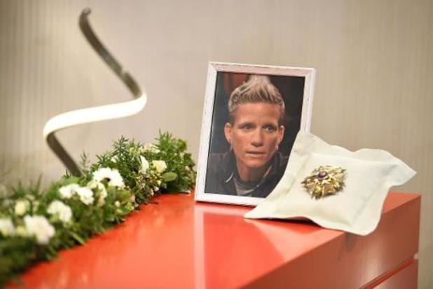Décès de Marieke Vervoort - Les amis et la famille aux obsèques de la championne paralympique Marieke Vervoort à Diest