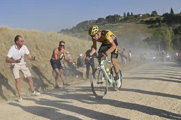 Strade Bianche - Numéro de Wout van Aert, vainqueur en solitaire à Sienne