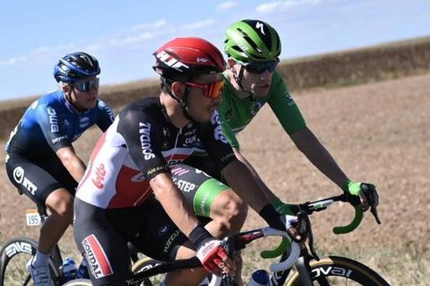Deuxième succès sur ce Tour de France pour Caleb Ewan, vainqueur d'un sprint entre spécialistes