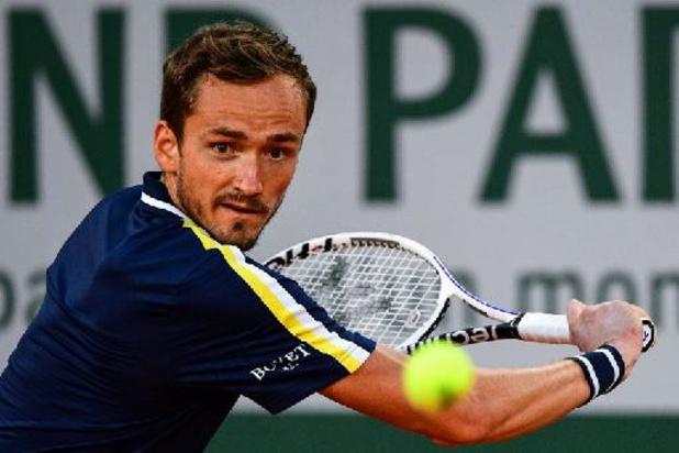 Roland Garros - Daniil Medvedev heeft ticket voor derde ronde beet