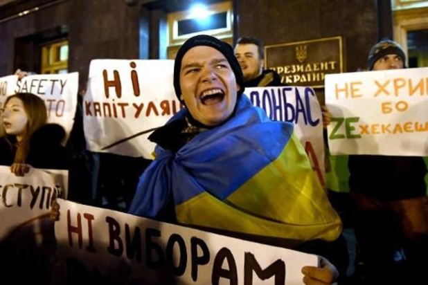 "Ukraine: 5.000 manifestants contre la ""capitulation"" face à Moscou"