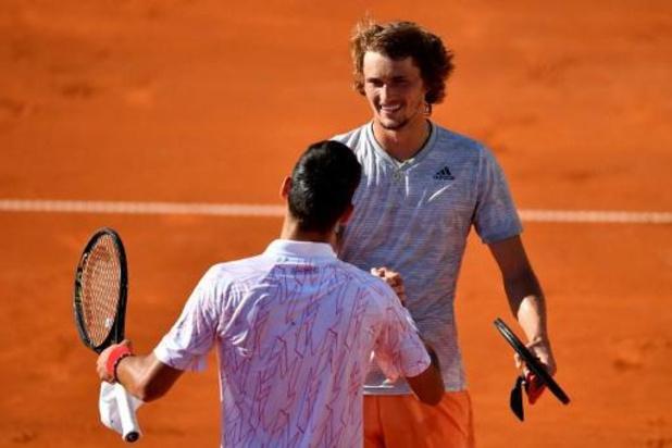 Coronavirus - Novak Djokovic verslaat Alexander Zverev op Adria Tour