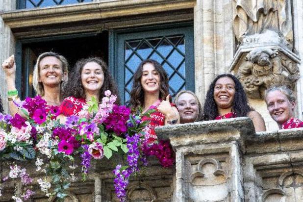 Belgische olympische medaillewinnaars in de bloemetjes gezet